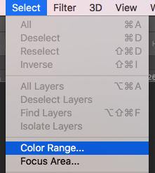 select color range